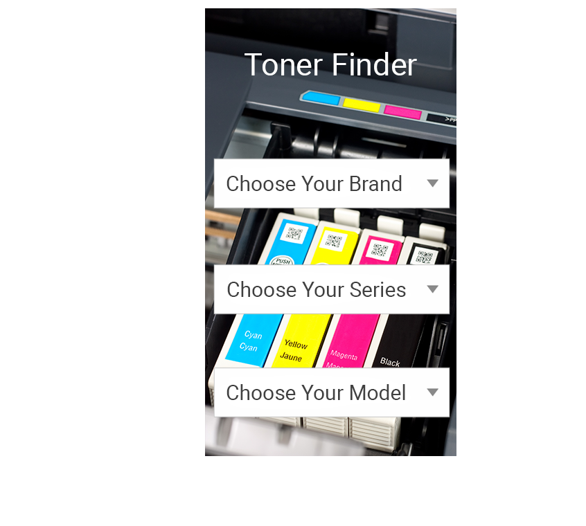 Ink & toner Finder Widget